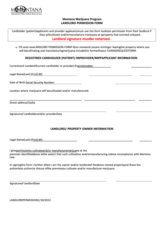 5 Landlord Permission Form Templates free to download in PDF, Word ...