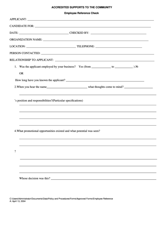 Employment Reference Check Form Templates. Employee Reference Check  Employment Reference Form Template