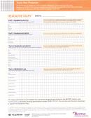 Headache Diary Template