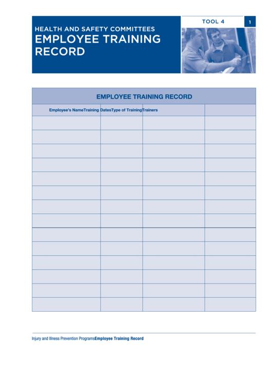 Employee Training Record