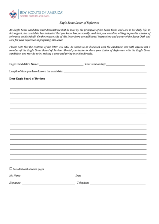 fillable eagle scout letter of reference template printable pdf download