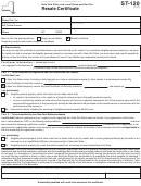 St-120, 2011, Resale Certificate