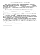 Security Agreement: Chattel Mortgage