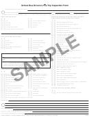 Sample School Bus Driver's Pre-trip Inspection Form