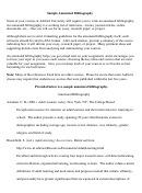 Sample Annotated Bibliography Template