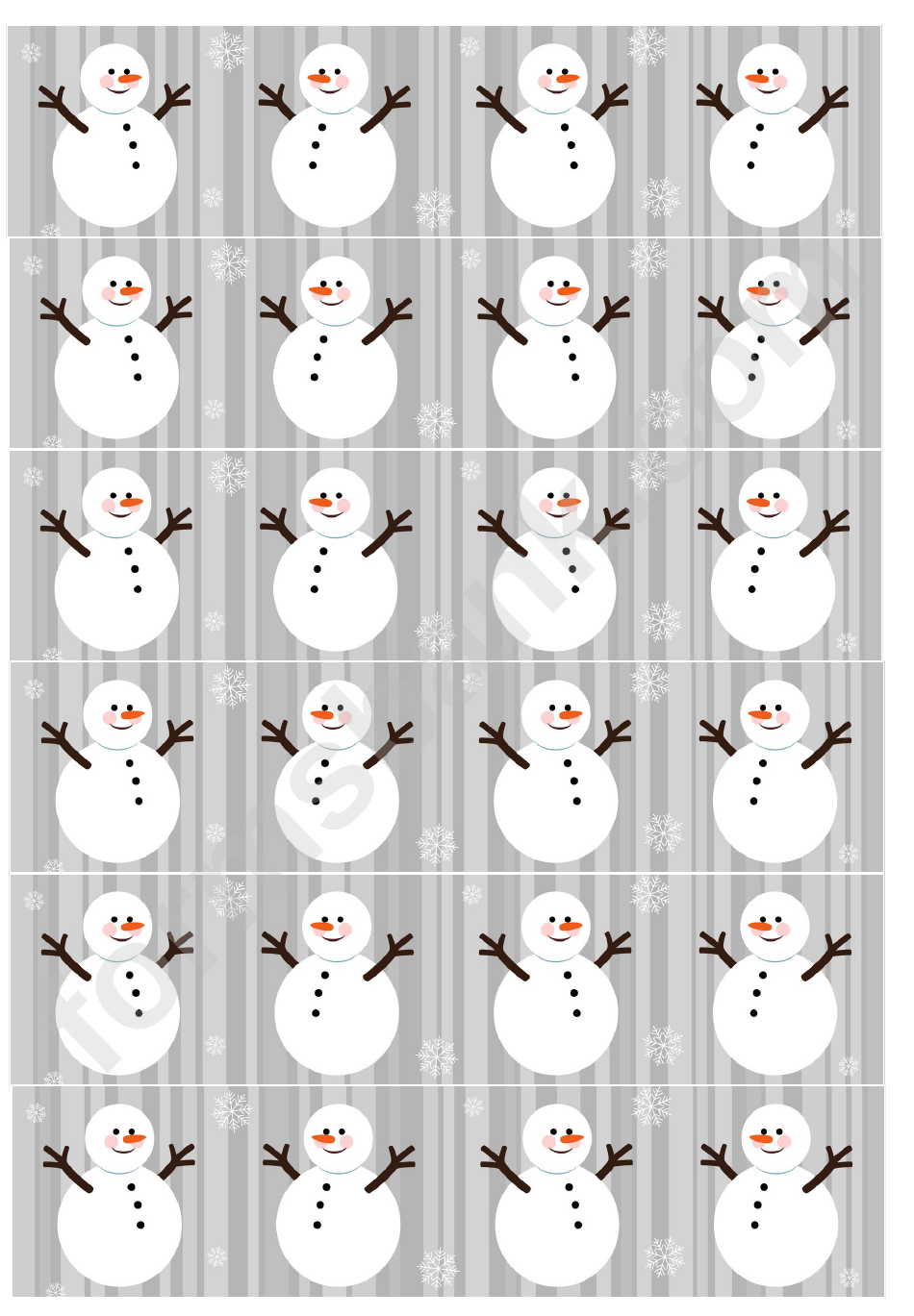 snowman christmas paper chain template printable pdf download
