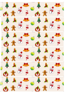 Christmas Symbols Paper Chain Template