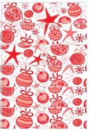 Red And Pink Christmas Paper Chain Template