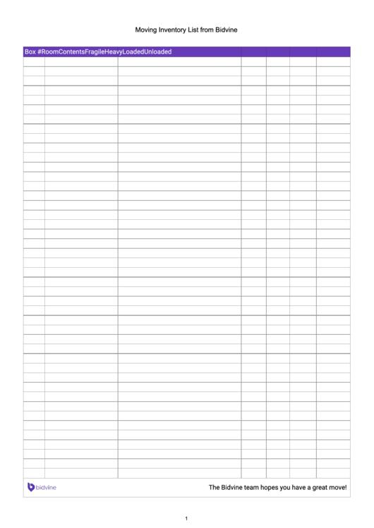 Moving Inventory List From Bidvine