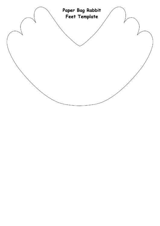 Paper Bag Rabbit Feet Template printable pdf download