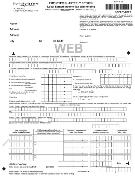 berkheimer local tax instructions