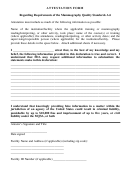 Attestation Form - Nc Radiation Protection