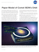 Paper Model Of Comet Ison's Orbit