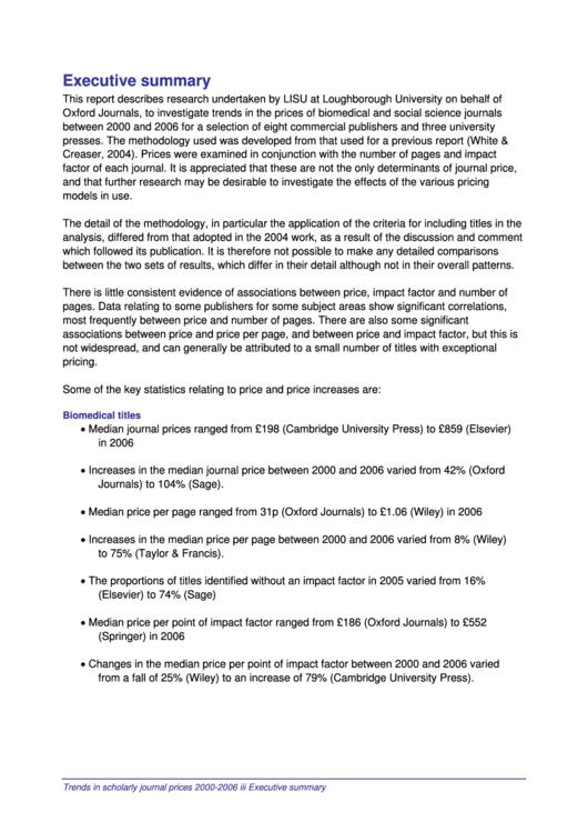Executive Summary - Loughborough University Printable pdf