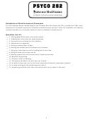 Psyco 282: Schedules Of Reinforcement Worksheet