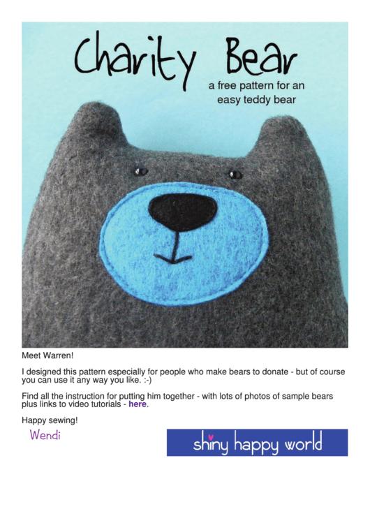 Cut Out Teddy Bear Template