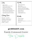 Daily Weekly Monthly Cleaning And Home Checklist Template