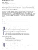 Model Un Position Paper