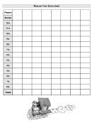 Mexican Train Score Sheet