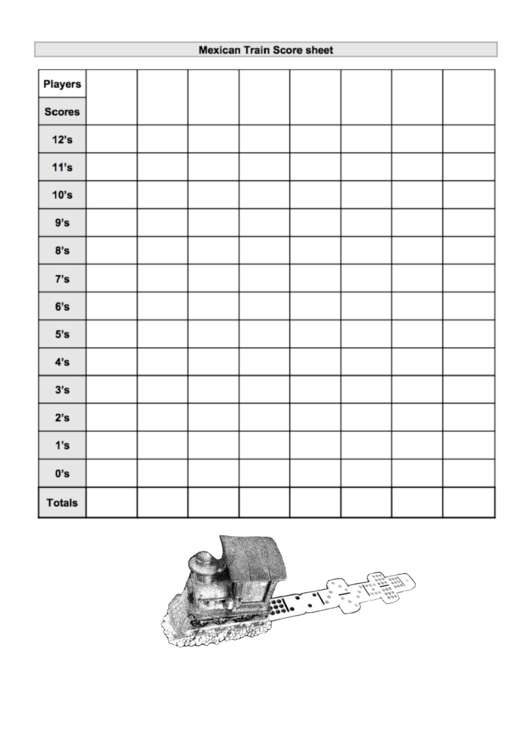 mexican train score sheet printable pdf download