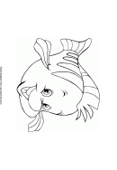 James (the Little Mermaid) Coloring Sheets