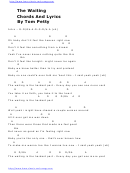 The Waiting Chords And Lyrics By Tom Petty