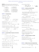 Formula Card For Weiss's Elementary Statistics, Fourth Edition