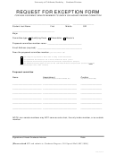 Request For Exemption Form