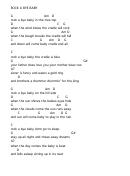 Rock A Bye Baby (chord Chart)