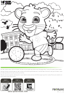 Leo Coloring Page - Soccer