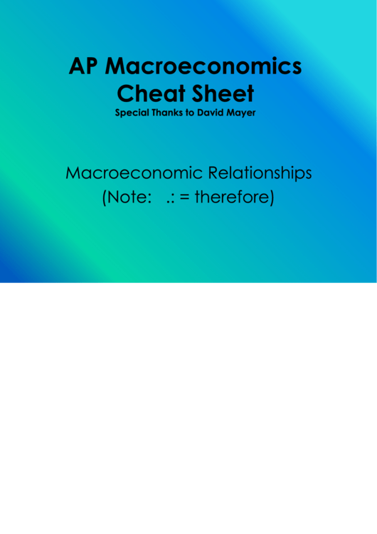 ap macroeconomics cheat sheet printable pdf download