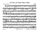 Stars And Stripes Forever (march) Alto Saxophone Sheet Music