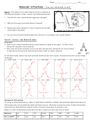 Molecular Attractions - Chemistry Worksheet With Answers