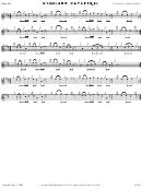Highland Cathedral - Piano Chord Chart