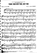 Frank Sinatra - New York New York (sheet Music)