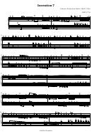 Invention 7 - Johann Sebastian Bach (1685-1750)