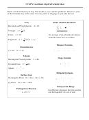 Ccgps Coordinate Algebra Formula Sheet