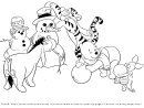 Winter Coloring Sheet - Winnie The Pooh