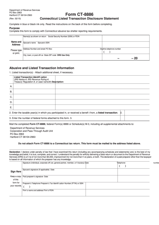 Top 11 Form 8886 Templates Free To Download In Pdf Format