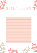 Baby Shower Intentions Template