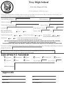 Troy High School - Activities Request Form