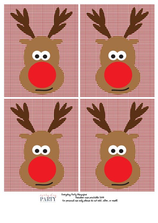 reindeer head template printable pdf download