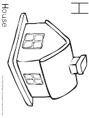 H Is For House (coloring Page For Children)