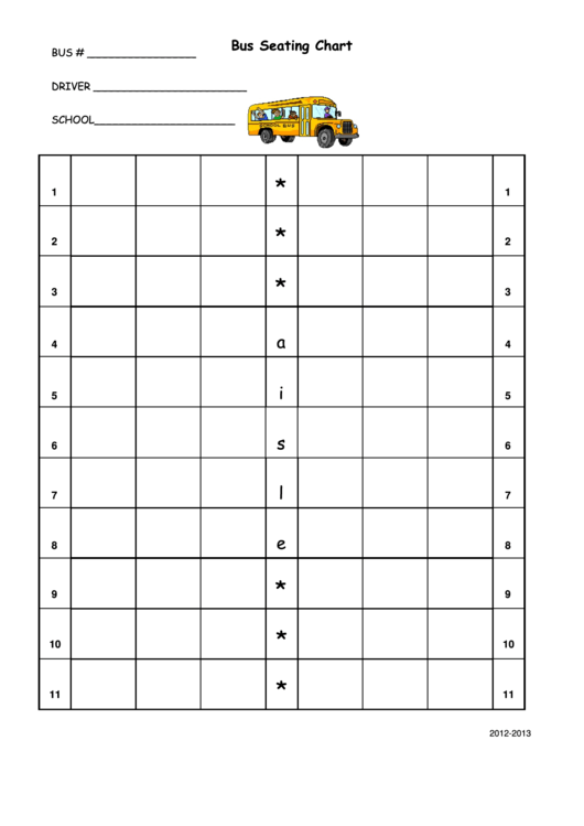 top 13 school bus seating charts free to download in pdf format