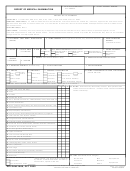 Dd Form 2808 - Report Of Medical Examination - 2005