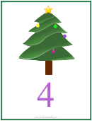 Christmas Tree Number 4 Template