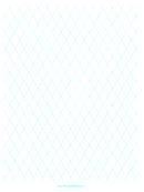 Diamond Graph Paper - 1 Inch