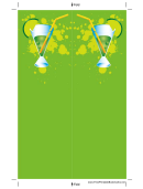 Green Cocktail Bookmark Template
