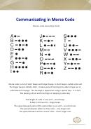 Morse Code Sheet