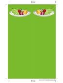 Green Fruit Bookmark